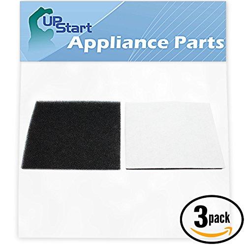 3-Pack Replacement Kenmore 11627515700 Vacuum Foam Filter - Compatible Kenmore 86883, 8175084, CF-1 Progressive & Whispertone Foam Filter