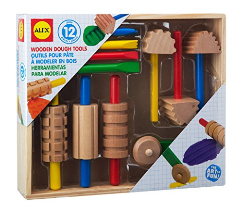 ALEX Toys Artist Studio Wooden Dough Tools Set 12 Piece
