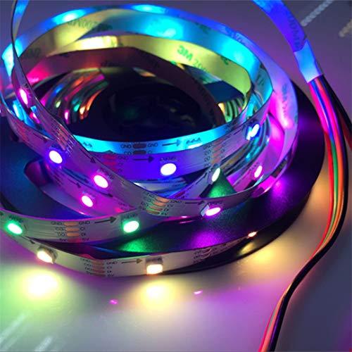BGFHDSD APA102 Full Magic Color Addressable Led Strip Light 5M 30LED/M DC 5V IP20 LED Programmable LED Strips Project Lights Black PCB by BGFHDSD (Image #5)