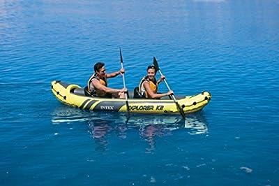 Kayak Intex Explorer K2 Kayak 2 Person Inflatable Boat with Paddles and Pump