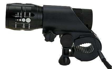 Lista Lista032 Zoomable Mode Bicycle Headlight LED Flashlight (Black)