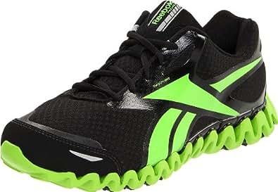 Reebok Men's Premier ZigFly SE Running Shoe,Black/Sushi Green,7 M US