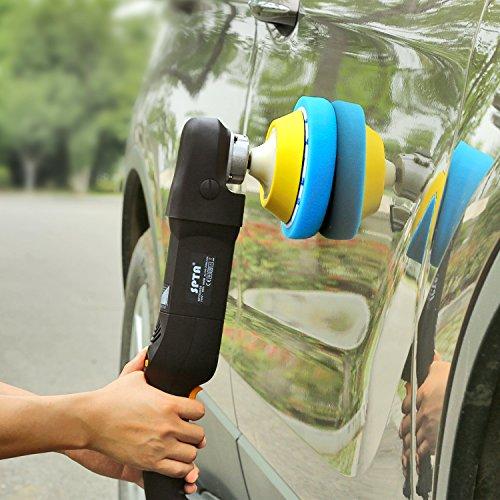 SPTA 5Pcs 7''/180mm Compound Buffing Sponge Pads Polishing Pads Kit Buffing Pad For Car Buffer Polisher Sanding,Polishing, Waxing by SPTA (Image #9)