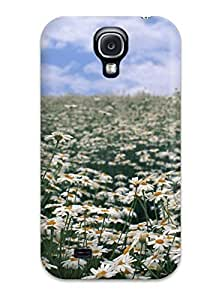 Hot TynzCqD7506caiIu Field Of Daisies Hard Case Cover Compatible With Galaxy S4