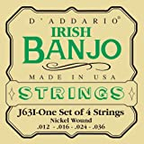 D\'Addario J63i Irish Tenor Banjo Strings, Nickel, 9-30