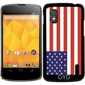 Funda para Google Nexus 4 - Bandera Estadounidense by Tom Hill