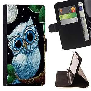 Cat Family ???¡¯?¡??nico Dise???¡¯???¡Ào caja de la PU billetera de cuero - FOR Samsung ALPHA G850 - Owls Owl Cartoon -