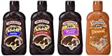 Smuckers Magic Shell Ice Cream Topping Variety Bundle, 7.25 oz Bottles (Pack of 4) Includes Caramel, Chocolate, Chocolate Fudge & Chocolate Pretzel Flavored Topping