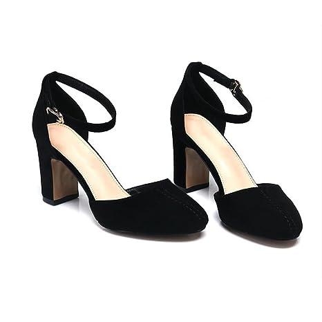 Donne scarpe, sandali, Baotou e scarpe donna,Black,trentanove