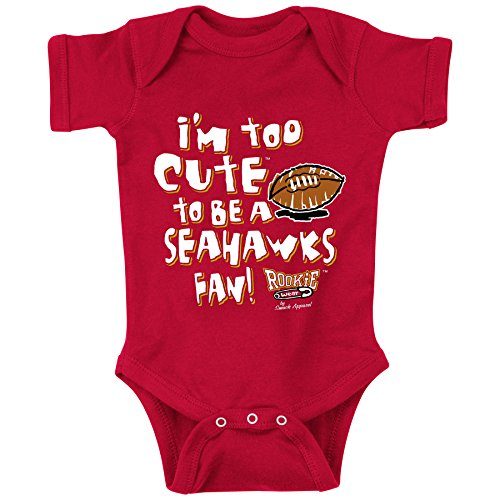 Smack Apparel San Francisco Pro Football Fans. Too Cute Onesie (12M)