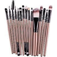 15 Brochas de Maquillaje Profesional Chicaspekes - colores aleatorios