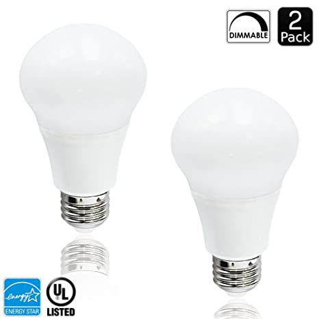 LED A19 bombilla, luxrite, 60 W equivalente, regulable, 2700 K, luz