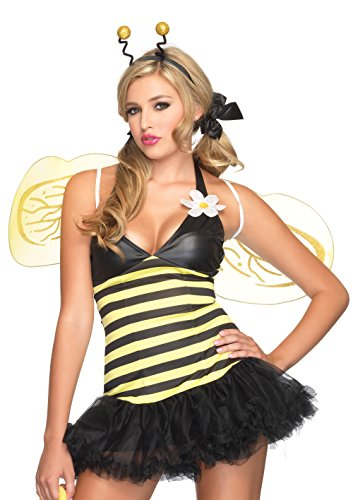 Sexy Bumble Bee Costume - Leg Avenue Women's 4 Piece Daisy Bee Costume Yellow/Black Medium/Large