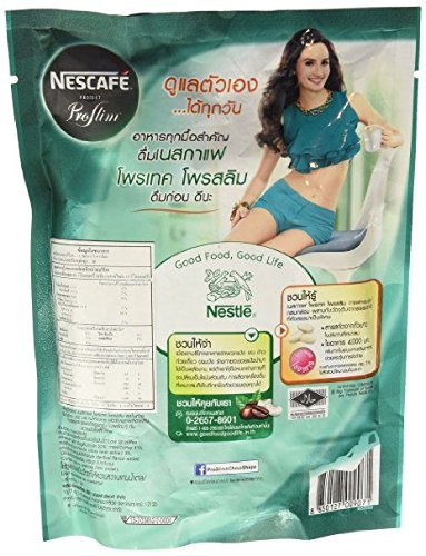 Instant Coffee Mix Sticks Nescafe Protect Proslim Pro Slim Diet Slimming Weight Control 17.4 G. X 17 Sachets (Pack of 3 Bags) Made in Thailand.