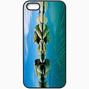 Unique Design Fashion Protective Back Cover For iPhone 5 5S Case Fresh Nature Background Nature Black