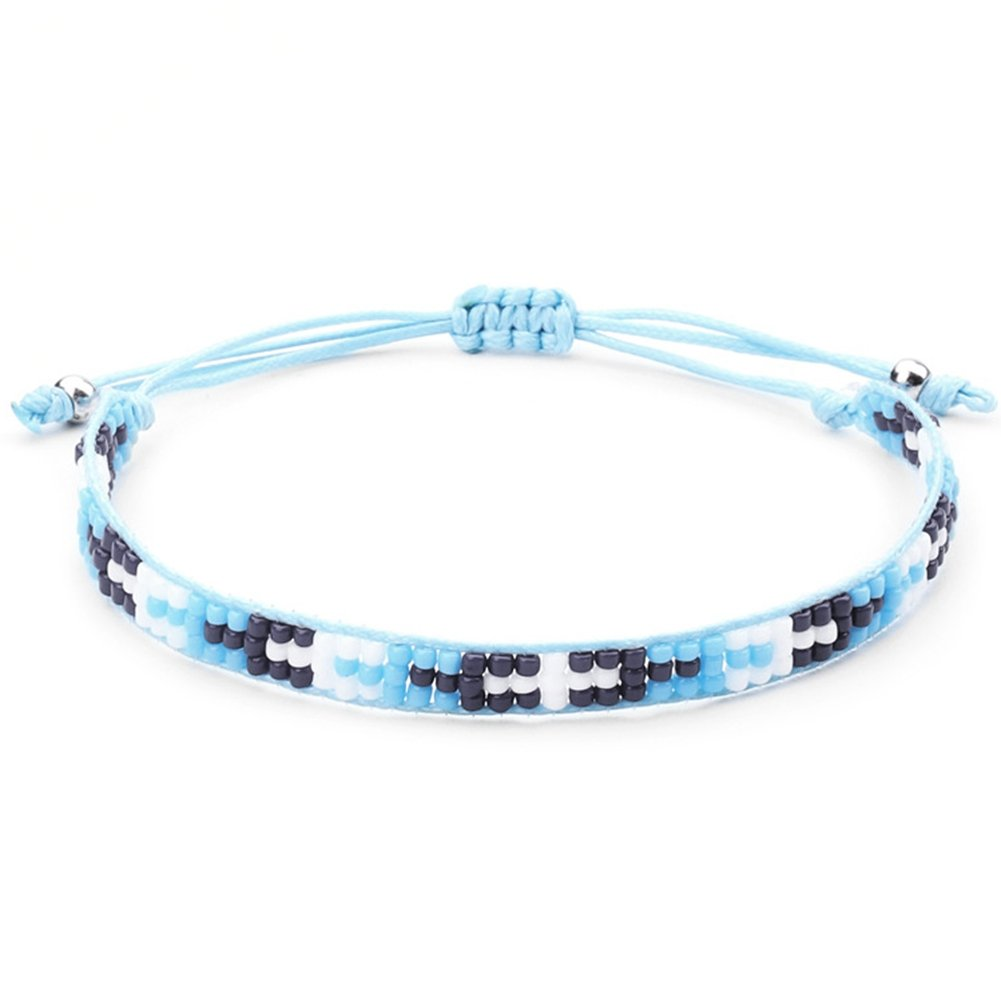 Jude Jewelers Bohemian Style Wrap Braided Beads Bracelet Wrist Cord Holiday Vacation Graduation