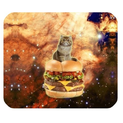 WECE Funny Quotes and Saying Mouse Pad, Space Cat Kitty