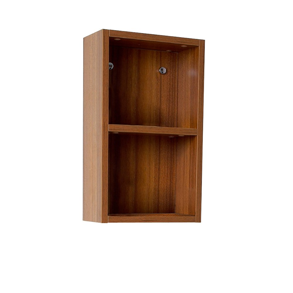 Fresca Bath FST8092TK Bathroom Linen Side Cabinet with 2 Open Storage Area, Teak by Fresca Bath