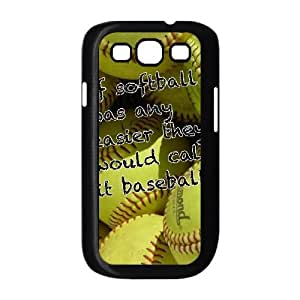 Hjqi - Customized softball Phone Case, softball Personalized Case for Samsung Galaxy S3 I9300