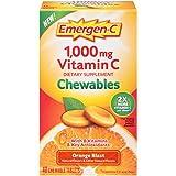 Emergen-C Chewable (40 Count, Orange Blast Flavor) Dietary Supplement Chewable Tablet with 1000mg Vitamin C & Vitamin B6