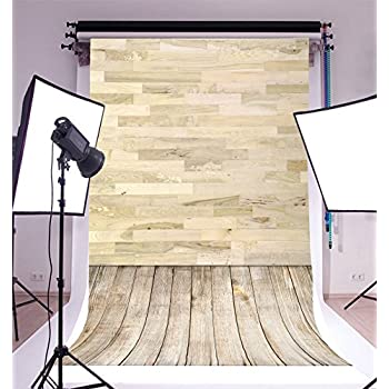 LFEEY 5x7ft White Wood Photo Backdrop Wooden Floor Wood Plank Wall Portrait Background for Photography Photo Booth Photo Studio Props