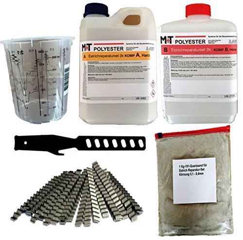 Risse Im Beton Reparieren 1 2 kg gießharz beton fugenharz estrich risse mischbecher 20