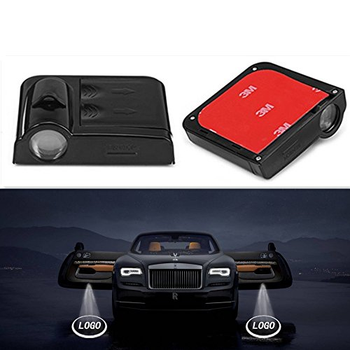 Benkesr Wireless Door Logo lamp for Nissan Wireless Universal Car Projection LED Projector Door Shadow Logo Light Welcome Lamps Courtesy Lights Kit Magnet Sensor(for Nissan)