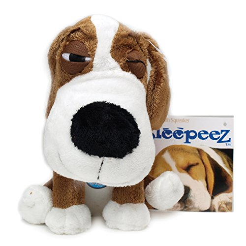 - Boss Pet Plush Cuddly Sleepeez Brown Beagle with Squeaker Dog Toy
