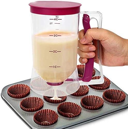 Cake Mix Measuring Batter Dispenser Bake Pancake Muffin Kitchen Baking Gif V8X3