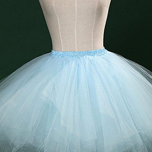 Bleu pour Multi Spectacle Femme Ciel Fte Taille Tulle Tutu Ballet Lger Jupe lastique Danse Couches Adulte Feoya en Courte Jupe x7qwFCzU