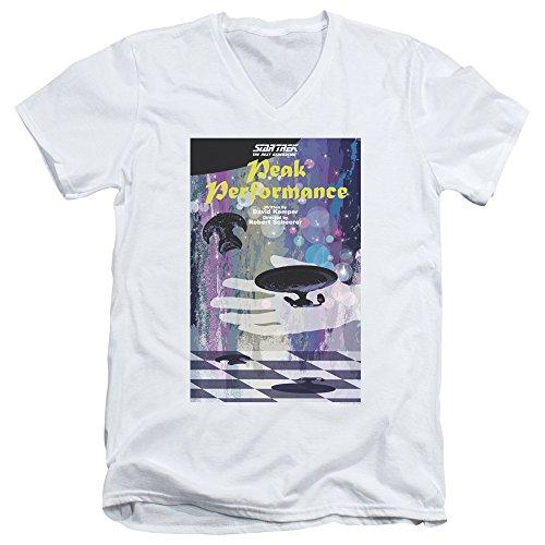 Star Trek: The Next Generation Peak Performance Juan Ortiz Poster Unisex Adult V-Neck T Shirt For Men and Women