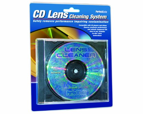 PerfectData CD Lens Cleaner, White (PD-105798-1) by CD LENS CLEANER