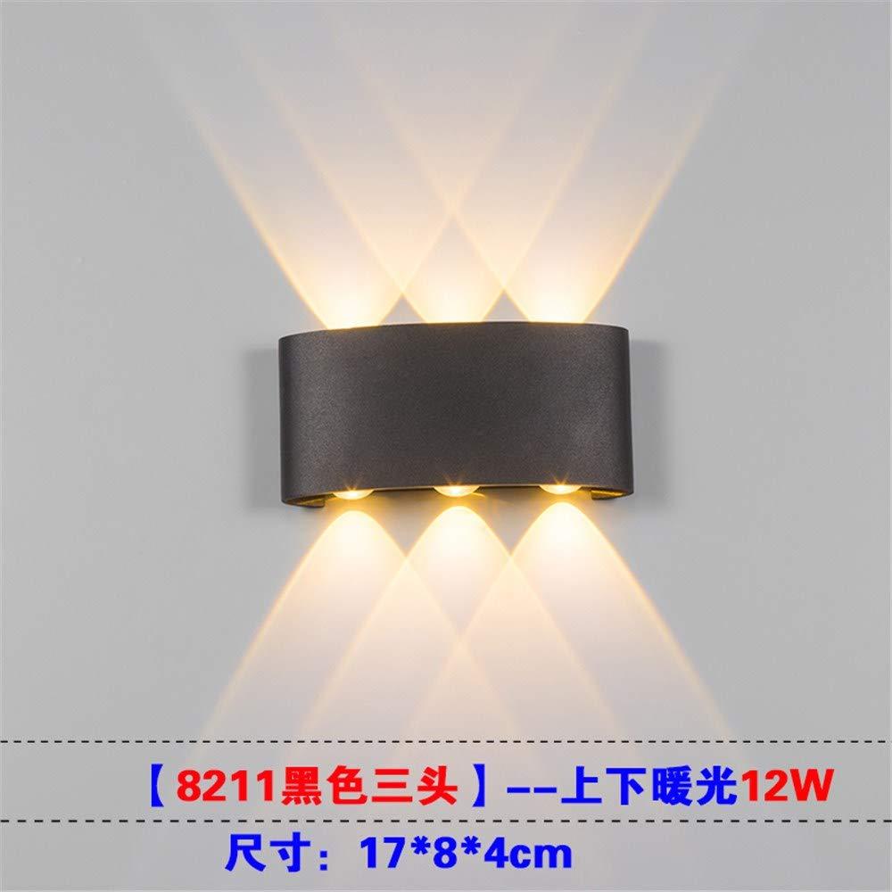 Wandleuchte LED im Freien wasserdichte quadratische einfache Lampe Dimmen Villa Hotel Lampe Innenlampe Nachttischlampe Wohnzimmer Schlafzimmer Lampe Flur Gang, D