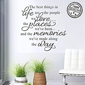 Wall Stickers The Best Things in Life Wall Decal Words Quote Wall Art Sticker Home Decor  sc 1 st  Amazon.com & Amazon.com: Wall Stickers The Best Things in Life Wall Decal Words ...