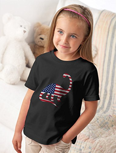 USA Dinosaur American Flag 4th of July Gift Toddler//Infant Kids T-Shirt