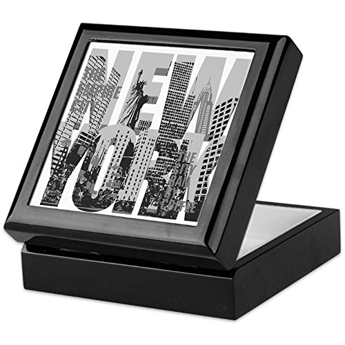 CafePress - NEW YORK - Keepsake Box, Finished Hardwood Jewelry Box, Velvet Lined Memento Box