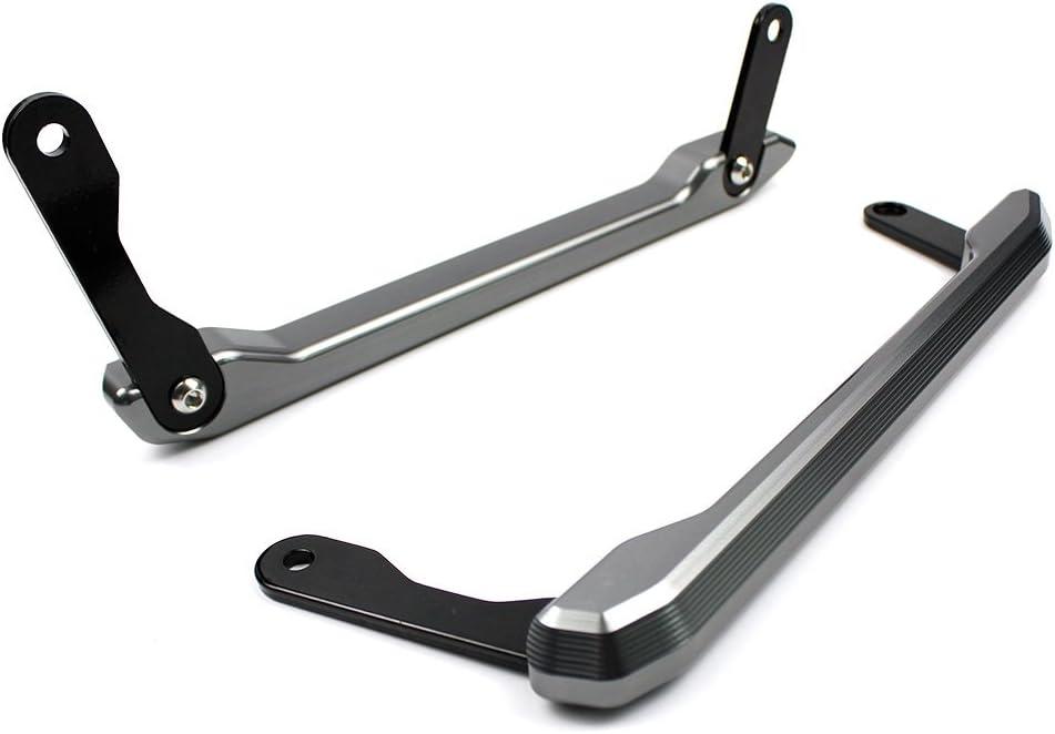 Gold FATExpress Motorcycle CNC Aluminum Rear Passenger Pillion Seat Grab Bar Hand Handle Rail Kit for 2013-2016 Yamaha MT FZ 09 MT-09 FZ-09 MT09 FZ09 2014 2015 13-16