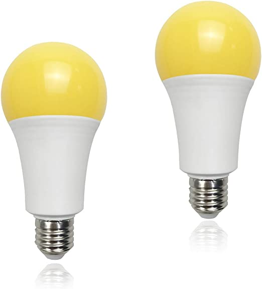 Yellow Led Bug Light 15w A21 1500lm 100 Watt Equivalent E26 Medium Base Outdoor Patio Porch Light Mosquito Repellent Light Bulbs 2 Pack Amazon Com