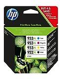 Купить HP 932XL/933XL Multipack Original Druckerpatronen (Schwarz, Blau, Rot, Gelb) mit hoher Reichweite für HP Officejet