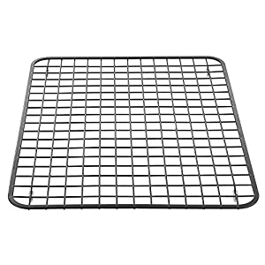 InterDesign Gia Kitchen Sink Protector - Wire Grid Mat – Large, Matte Black