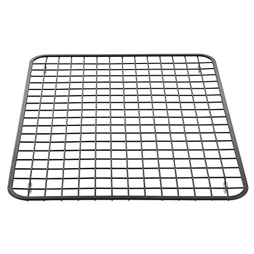 (iDesign Gia Large Metal Sink Grid, Non-Skid Protector for Kitchen, Bathroom, Basement, Garage, Laundry Room, 16.25