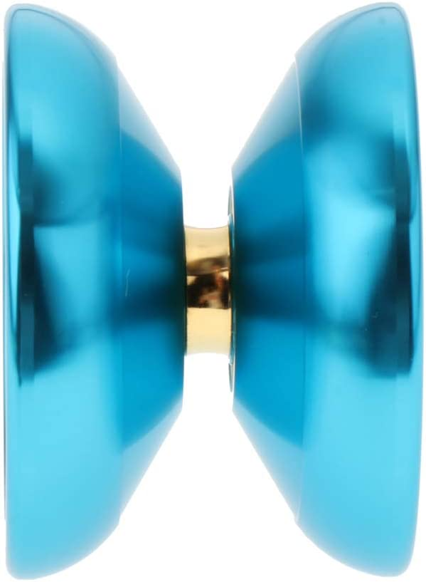 SM SunniMix Yoyo Professionnel Tour de Magie K5 Yoyo Astuce Alliage Jouet /éducatif Enfants 5.5cm Bleu