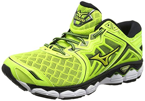 Mizuno Men Wave Sky Running Shoes Multicoloured (Safetyyellow/Safetyyellow/Black 44)