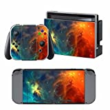 GALAXY Nintendo Switch Controller Cover Skin Set for Console Dock Joy Con Vinyl Decal Sticker Protector -Nebula Red by BR Review