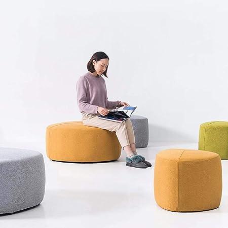 Isogea Sgabello Basso Pigro Divano tavolino da Salotto Tessuto Blocco Moderno poggiapiedi casa Piccolo Colore: Rosso Colore : Verde, Dimensione : -