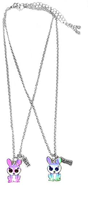 acquisto economico 0bf49 5fede Lotto di 2 collane dell'amicizia, in metallo argentato, con ...