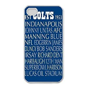 iphone4 4s Phone Case White Indianapolis Colts JFL230483
