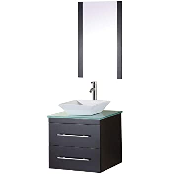 Design Element Elton Wall Mount Single Vessel Sink Vanity With