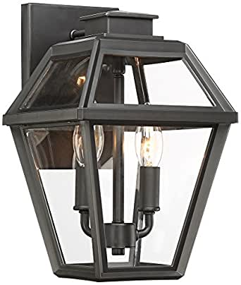 "Wickham 14 3/4"" High Gray Outdoor Wall Light"