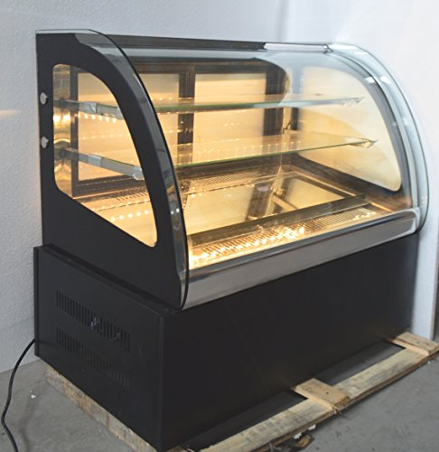 New Countertop Refrigerated Cake Showcase 220V Commercial Diamond Glass - Bakery Case Curved Refrigerated Display